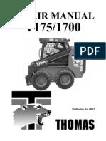 Thomas Skid Steer 175 Repair Manual