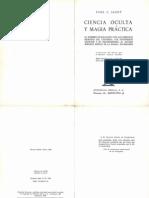 Ciencia Oculta Y Magia Practica Jagot Paul