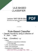 Rule Based Classifier