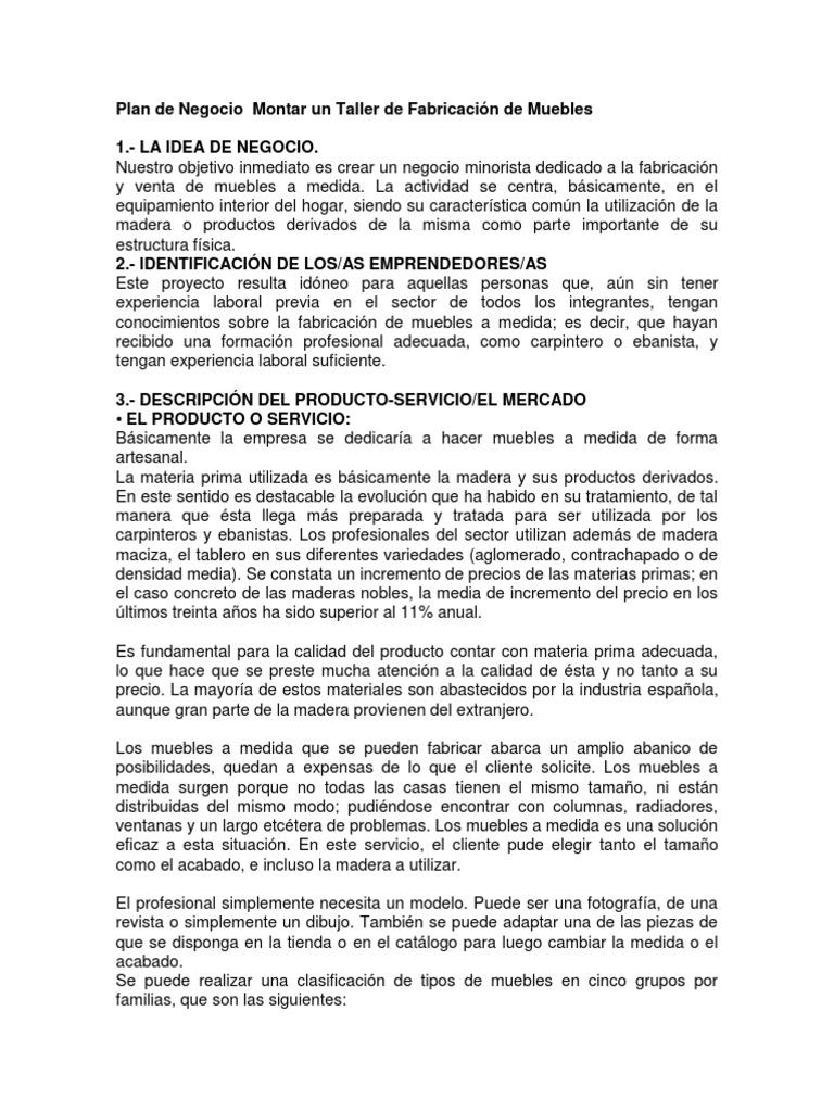 Plan de Negocio Montar un Taller de Fabricación de Muebles.docx