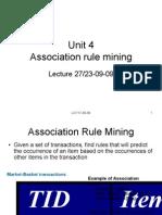 Unit 4 Association Rule Mining
