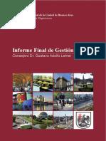Informe de Gestión - Consejero Gustavo A. Letner - 2012 / 2014