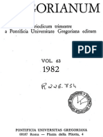 De La Cuestion del Hombre a La Cuestion de Dios. Kant, Feuerbach, Heidegger (Gregorianum, 63, 1982) - Juan Alfaro SJ