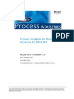 Process Industries for Dynamics AX 2009 SP1 Release Notes