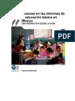Avances en Las Reformas de La Educacion Basica. OCDE. 2012