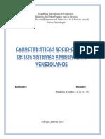 Caracteristicas Socio-cultural de Los Sistemas Ambientales Venezolanos UNEFA