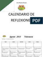 CALENDARIO DE REFLEXIONES AÑO ESCOLAR 2013-2014 (1)