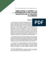 Gonzalez Fernan. Colombia Entre La Guerra y La Paz