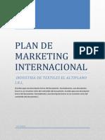 Plan de Mkt Internacional