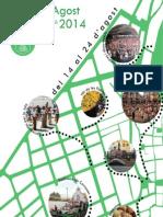 Programa de mà de les Festes d'Agost 2014