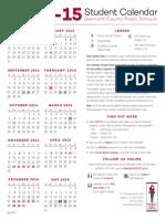 2014-15 student calendar