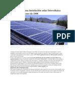 Cómo Hacer Una Instalación Solar Fotovoltaica Casera Por Menos de 100