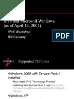Windows and Ipv6