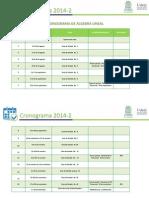 Cronograma de Álgebra Lineal 2014-2