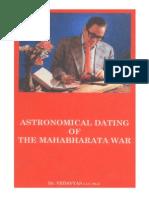 Astronomical Dating of the Mahabharata War
