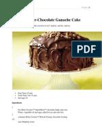 Betty Crocker-Chocolate Ganache Cake