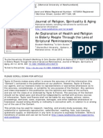 An Exploration of Health and Religion in Elderly People Through the Lens of Scriptural Reminiscence