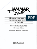 Cambridge - English Grammar In Use - A Self-Study - Reference And Pratice Book For Intermediate Students Of English - Raymond Murph & Roann Altman