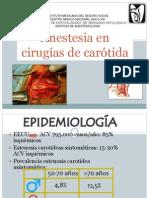 Anestesia en Cirugia de Carotida