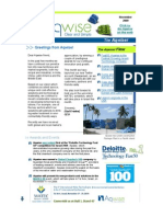 Aqwise November 2009 Newsletter