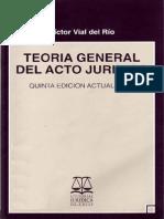 Vial del Rio, Victor - Teoria General del Acto Juridico.pdf