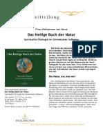 Das Heilige Buch der Natur von Firos Holterman ten Hove - Pressemitteilung