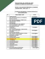 Cronograma.requisitos.2014.II [Bienestar.universitario