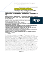 Proposed Declassification of Disease Categories Related to Sexual Orientation in the International Statistical Classification of Diseases and Related Health Problems