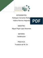 Fundicion Rodrigo Alejandra (Pb- Sn)