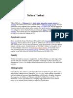 Salima Hashmi biography