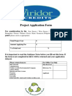 Viridor Application Form 2008