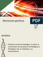 Alteraciones genéticas...