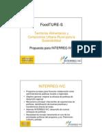 01 INTERREG IVC FoodTURE-S Presentacion