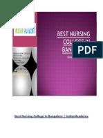 Best Nursing College in Bangalore | IndianAcademy