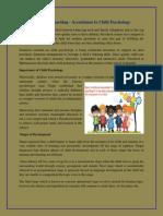 Preschool Learning - Accordance to Child Psychology
