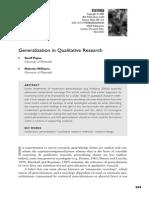 Generalization in Qualitative Research