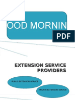 Privatisation of extension service providers