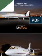 Bolichicos Airlines--Panfleto de venta de avion marca Falcon 2000