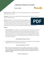Bitácora de Instalación de Moodle 2.6