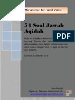 54 Soal Jawab Aqidah Syaikh Muhammad Bin Jamil Zainu Gratis