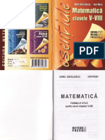 Matematica Formule Utile - Clasele 5-8
