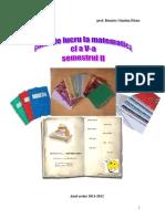 Caiet de Lucru Matematica Clasa a v a Sem II ed.