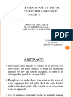 Utilization of Ceramic Waste by Partial Replacement Of