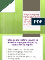 Pagbabago Sa Panahon Ng Mga Amerikano (1)