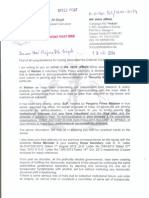 D.O.Letter to Sh.Rajnath Singh,Home Minister of India on democratization of Security sector