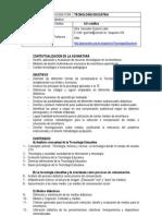 Programa Asignatura TECNOLOGÍA EDUCATIVA2009_2010