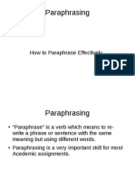 QMU ppt newParaphrasing