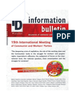 15th International Meeting of Communist and Worker's Parties Information Bulletin