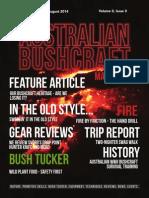 Australian Bushcraft Magazine Launch Issue - August 2014
