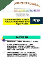 Taklimat Peraturan Dan Prosedur NCR Kpd Pegawai Syarak Jasin